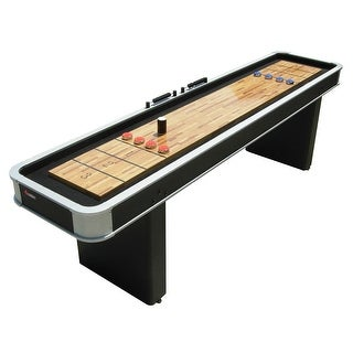 Atomic 9 ft. Platinum Shuffleboard Table with Pedestal legs / Model M01702AW