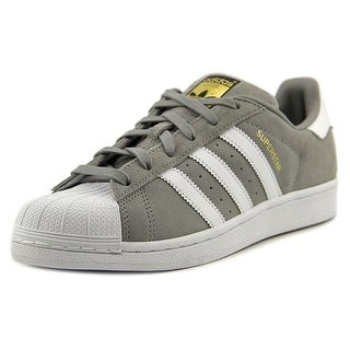 Adidas Superstar Suede Women Round Toe Suede Gray Sneakers