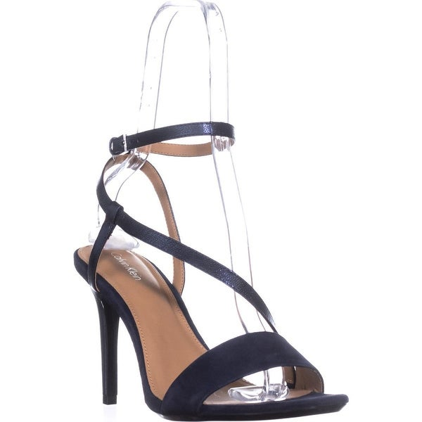 Calvin Klein Nyssa Ankle Strap Heels, Deep Navy Suede - 11 us / 41.5 eu