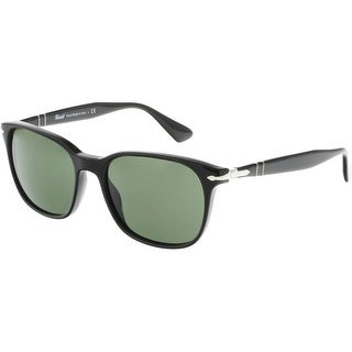 Persol Men's PO3164S-95/31-56 Black Rectangle Sunglasses