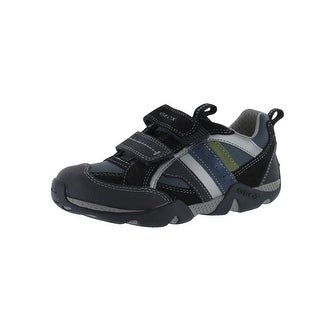 Geox Boys' Aragon F Sneaker - Navy/Grey