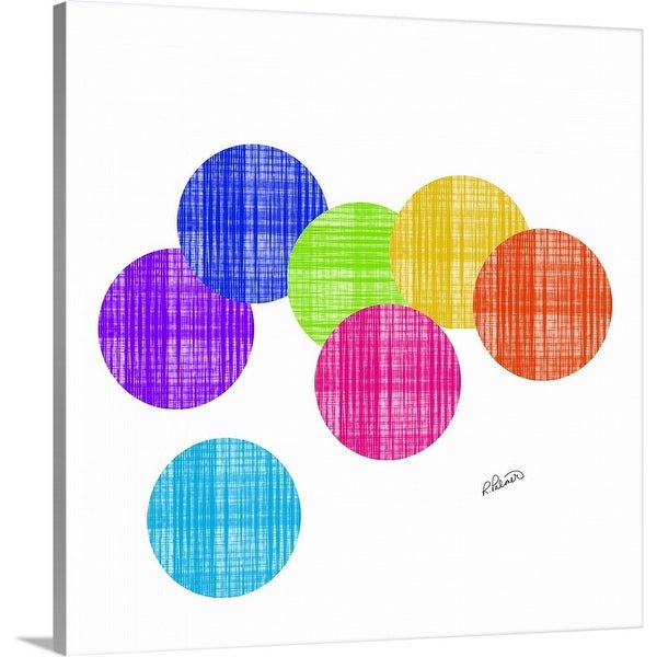 """""""Colored Circles On White"""" Canvas Wall Art"""