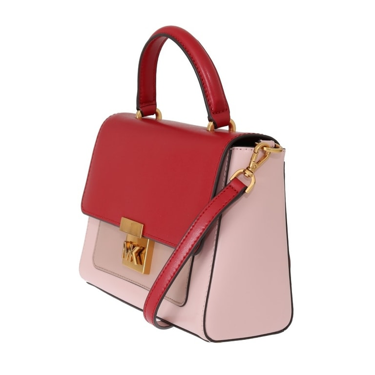 7afb933e9 Shop Michael Kors Red Pink MINDY Satchel Crossbody Women's Bag - One Size - Free  Shipping Today - Overstock - 26960980