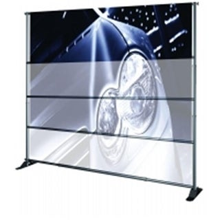 Testrite Visual Products JN5SOC Grand Format Banner Stands