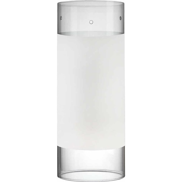 """Volume Lighting GS-306 8"""" Height White with Clear Edge Glass Cylindrical Shade - white with clear edge"""