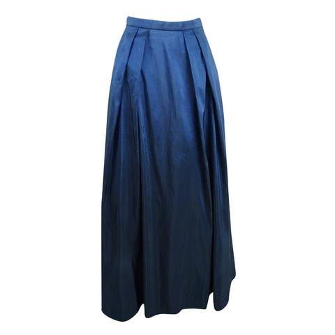 Alex Evenings Women's A-Line Ball Skirt (L, Navy) - Navy - L