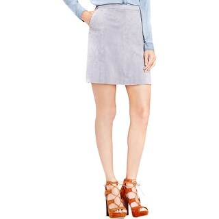 Two by Vince Camuto Womens A-Line Skirt Faux Suede Side Pockets