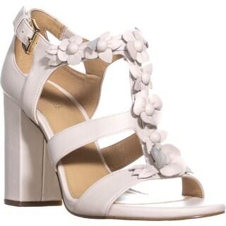 MICHAEL Michael Kors Tricia T-Strap Sandals, Ecru - 7 us / 37 eu
