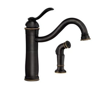 Moen 87427 Single Handle Kitchen Faucet with Sidespray from the Walden Collection