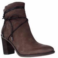 Franco Sarto Edaline Wrap Around Ankle Tie Boots, Tobacco