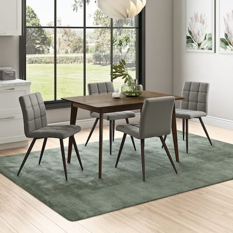 Carson Carrington Rachan 5-piece Dining Table and Upholstered Dining Chairs