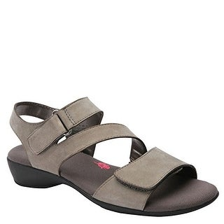 Ros Hommerson Women's Marilyn Sandals, Grey Leather, 8 WW