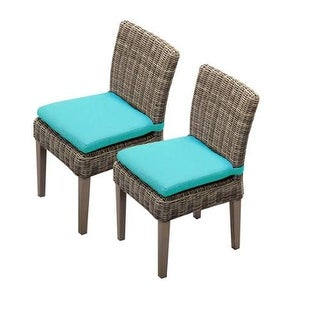 "Miseno MPF-TKC092BADCC Nantucket 2-Piece 36"" Tall Aluminum Framed Outdoor Dining Side Chair Set"