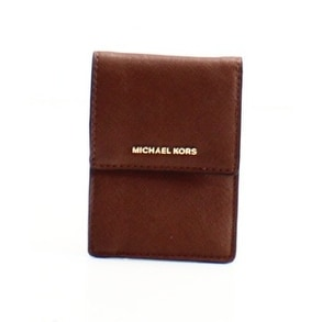 70cfee606b20 Shop Michael Kors NEW Brown Saffiano Jet Set Travel Lanyard ID Card Holder  - Free Shipping On Orders Over  45 - Overstock - 18840650
