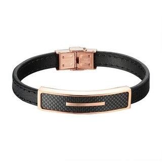 Rose Gold Tone Bracelet Party Wear Custom Bangle Cuff Wrist Band Mens Elegant