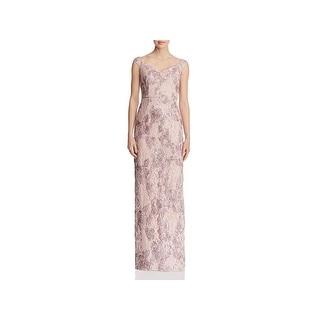 Aidan Mattox Womens Evening Dress Off-The-Shoulder Lace