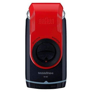 Braun M60 Mobile Pocket Shaver, Red - red & black
