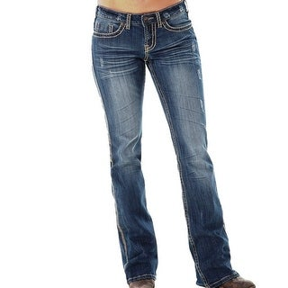 Cowgirl Tuff Western Denim Jeans Womens Whip It Good Med Wash