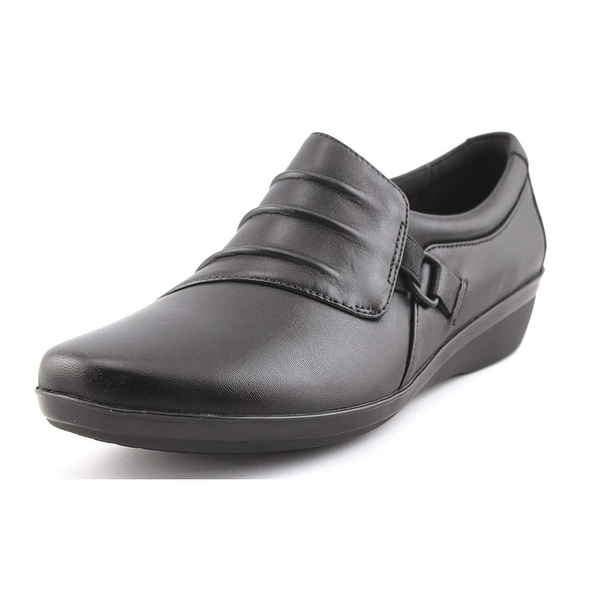 Clarks Narrative Everlay Heidi Women Round Toe Leather Black Loafer