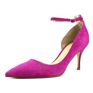 Ivanka Trump Womens Brita Suede Pointed Toe Ankle Strap Classic Pumps