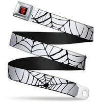Marvel Comics Spider Man Full Color Spider web White Black Webbing Seatbelt Seatbelt Belt