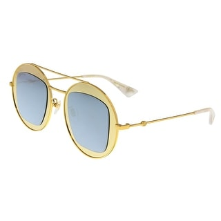 Gucci GG0105S 003 Gold Round Sunglasses - 47-27-145