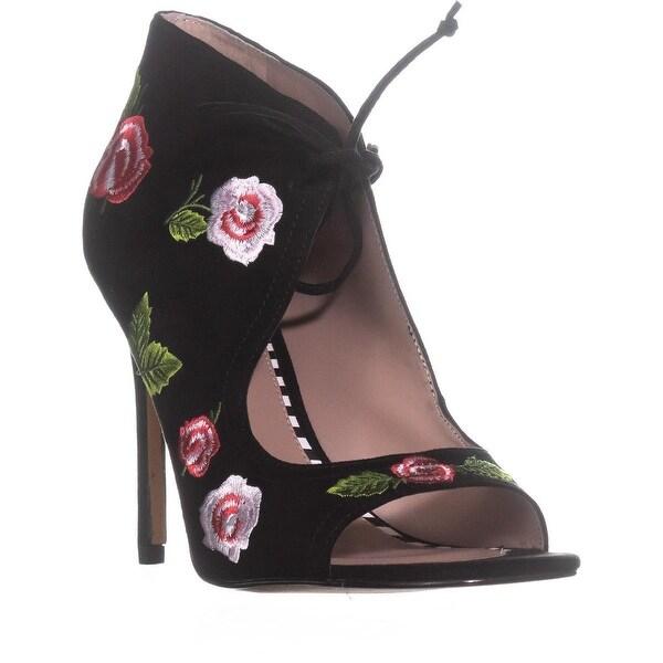 Betsey Johnson Caroline Slim Heel Sandals, Black - 9 us