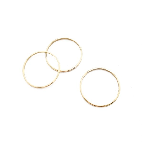 Honeycat Skinny Thin Stacking Rings Trio (Delicate Jewelry)