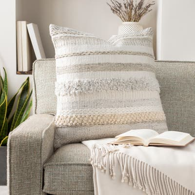Lilith Cozy Nordic Stripe Wool Throw Pillow