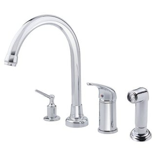 Danze D409112 Kitchen Faucet - Includes Side Spray and Soap Dispenser From the Melrose Collection