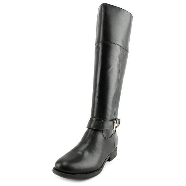 Tommy Hilfiger Shahar Women Round Toe Synthetic Black Knee High Boot