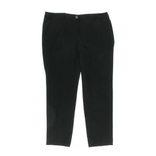 MICHAEL Michael Kors Womens Straight Leg Heathered Dress Pants