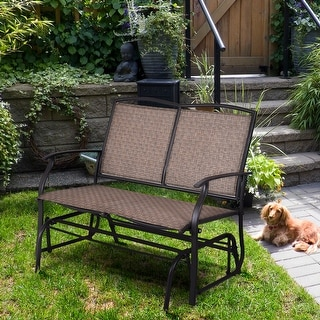 Link to Outdoor Patio Glider Bench Loveseat Chaise Rocking Armchair Garden Similar Items in Patio Furniture