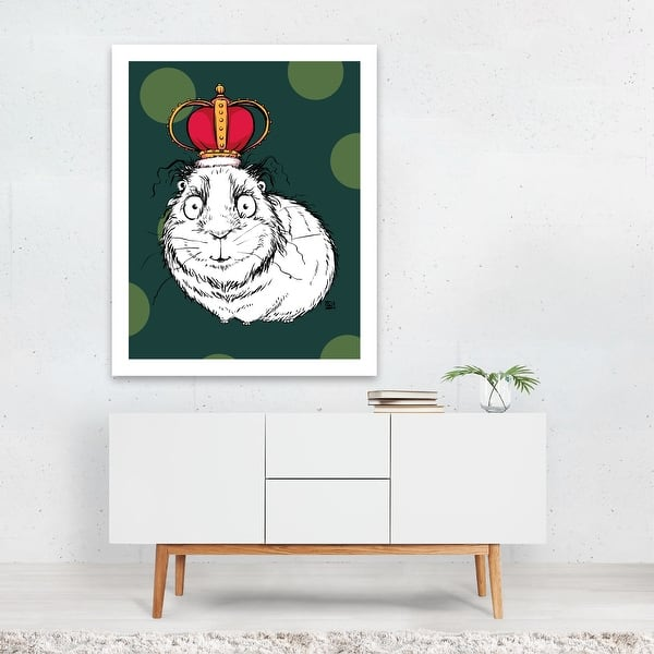 Animals Crown Green Guinea Pig King Pig Unframed Wall Art Print Poster Overstock 31233030 The perfect ricardomilosgreenscreen ricardo greenscreen animated gif for your conversation. overstock com
