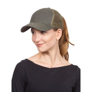 C.C Ponytail Messy Buns Trucker Ponycaps Plain Baseball