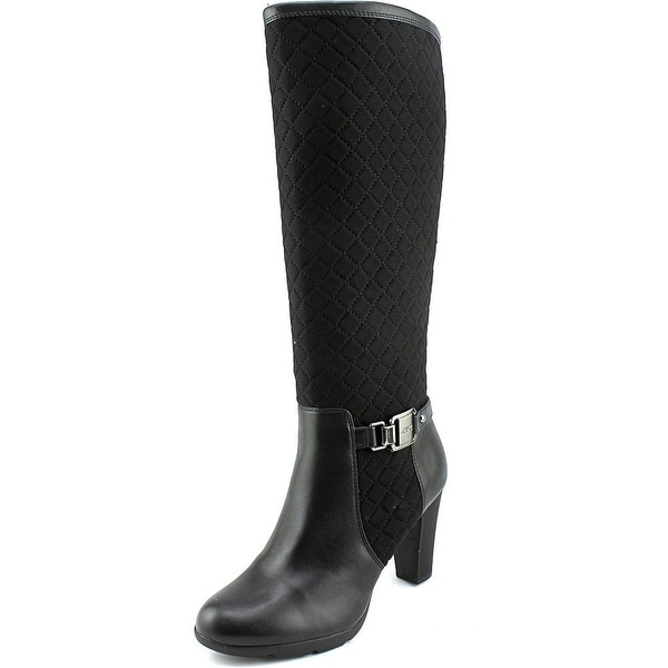 Anne Klein Sport Xtended Round Toe Canvas Knee High Boot