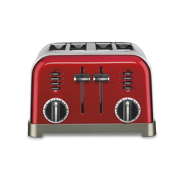 Cuisinart CPT-180MR Metal Classic Toaster, 4 Slice, Metallic Red