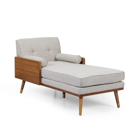 """Fortas Mid-century Modern Chaise Lounge by Christopher Knight Home - 32.00"""" W x 63.75"""" L x 33.50"""" H"""