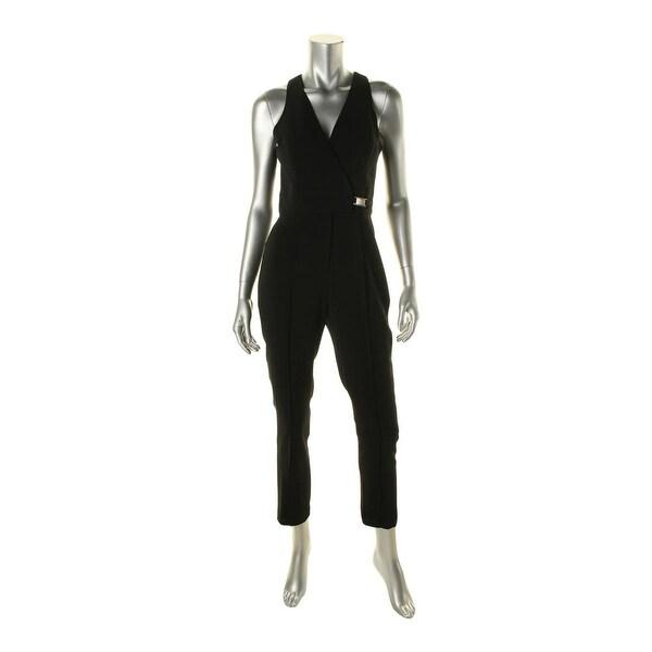 Jay Godfrey Womens Jumpsuit Open Back Surplice - 4