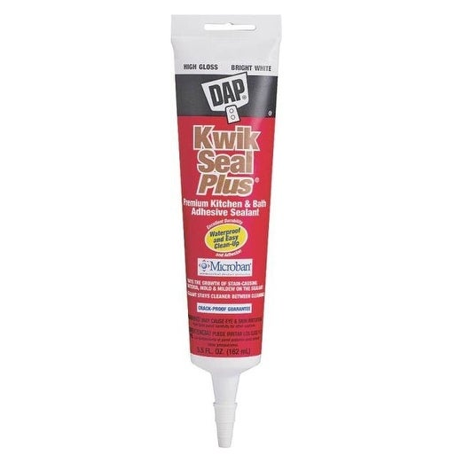 Dap 18526 Kwik Seal Plus Premium Adhesive Caulk, White, 5.5 Oz