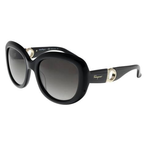Salvatore Ferragamo SF727S 001 Black Square Sunglasses - 53-20-135