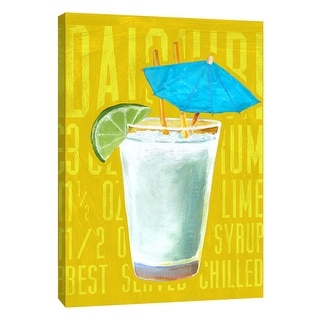 "PTM Images 9-108934  PTM Canvas Collection 10"" x 8"" - ""Daiquiri (Vertical)"" Giclee Liquor & Cocktails Art Print on Canvas"
