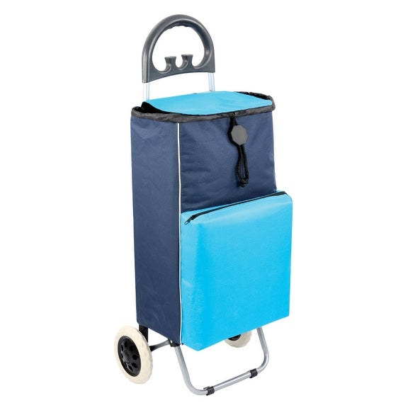 "Shopping Cart Cooler in Blue - 38.25""h x 11"" l"