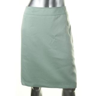 Tahari ASL Womens Kris Textured Hidden Back Zip Pencil Skirt