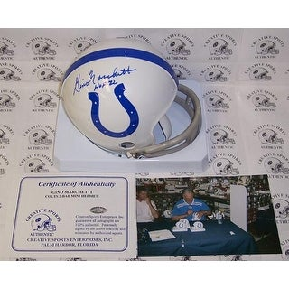Gino Marchetti Autographed Hand Signed Colts Mini Helmet