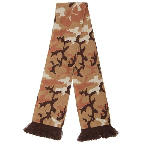 Floso Unisex Camouflage Knitted Winter Scarf With Fringe - One Size