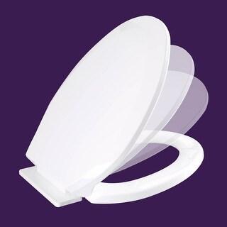 Toilet Seat Slow EZ Close No Slam Plastic Elongated White