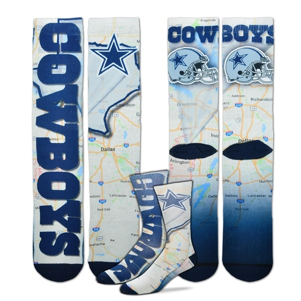 Dallas Cowboys Roadmap Sublimated Socks, Large (10-13)