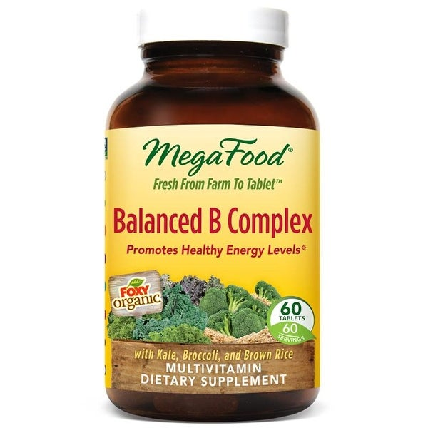 MegaFood Balanced B Complex Multivitamin - 60 Tablets