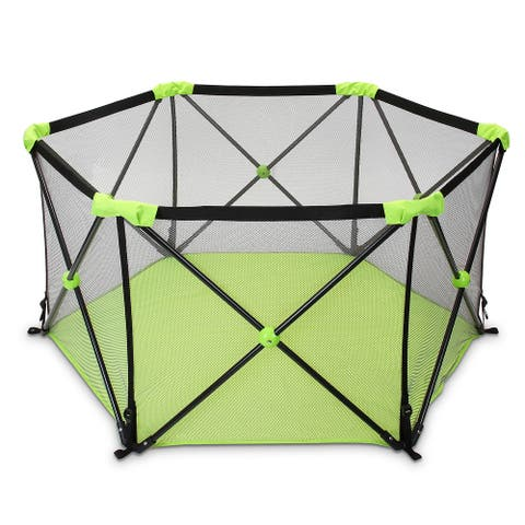 "Odoland Playpen for Dogs Puppy with Carrying Case - 7'10"" x 9'18"""
